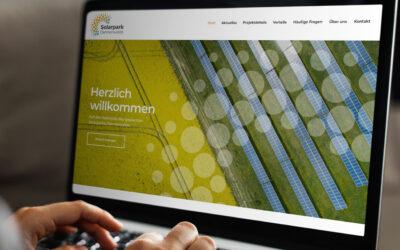 Solarpark Dannenwalde – Webseite geht online